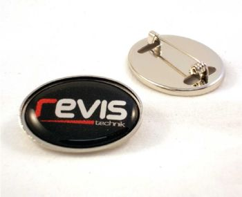 Standard Badge 30x21mm oval and printed dome